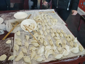 Agico group make dumplings at winter Solstice Festival