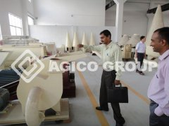India Customer Visit and Test Peanut Shell Pellet Mill Manufacturer