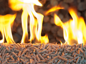 biomass pellets burning
