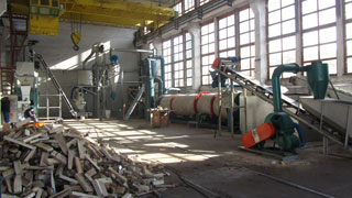 2ton/h sawdust pellet production line in Bulgaria