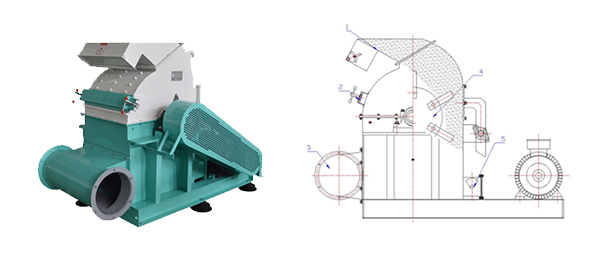large hammer mill diagram