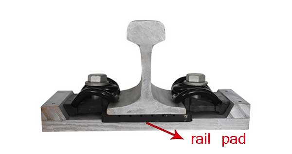 Rail pads for SKL rail fastening system
